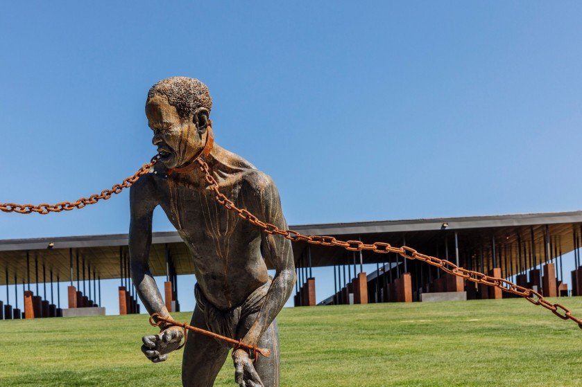 EJI Visit Sculpture of slave in chains