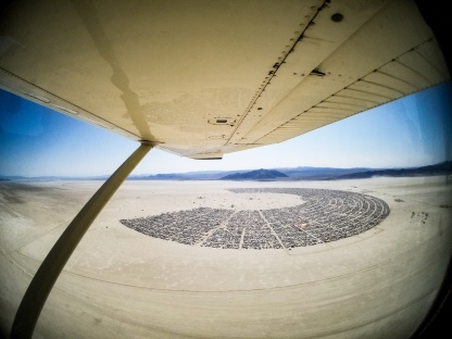 The metropolis of Burning Man from the sky (courtesy of Ben Von Wong)